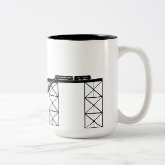Train Wreck Two-Tone Coffee Mug