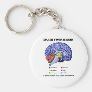 Train Your Brain Eliminate Sensation Of Fatigue Basic Round Button Key Ring