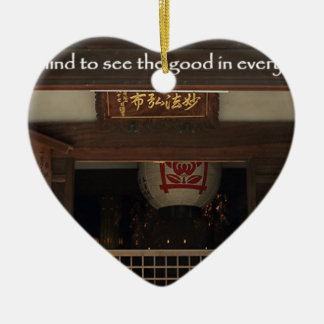 Train your mind to see the good in every situation ceramic heart decoration