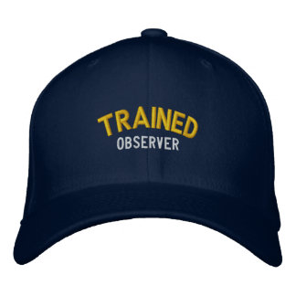 Trained Observer Embroidered Baseball Caps