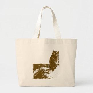 Trained Owl Jumbo Tote Bag