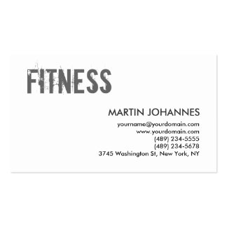 Trainer Gray Black White Dynamic Business Card