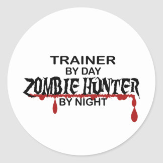 Trainer Zombie Hunter Round Sticker