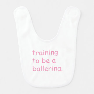 Training to be a ballerina bibs