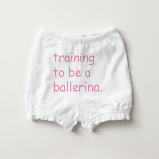 Training to be a ballerina nappy cover