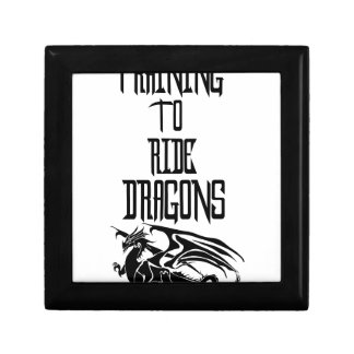 Training To Ride Dragons Small Square Gift Box