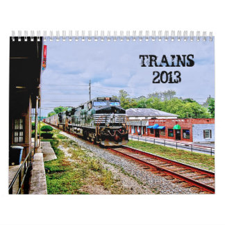 TRAINS 2013 WALL CALENDARS