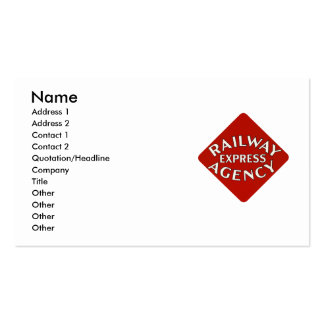 Trains Can Send Your Bags ahead by Railway Express Pack Of Standard Business Cards