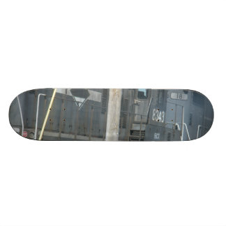 trains custom skate board
