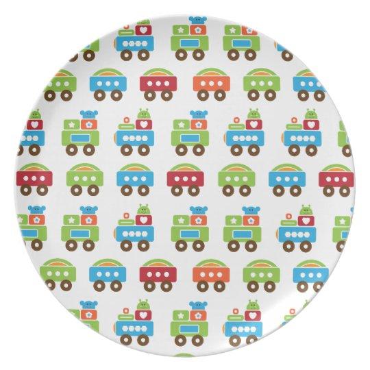 Trains Galore Kids Plate