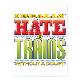 Trains Hate Face Postcards