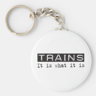 Trains It Is Key Ring