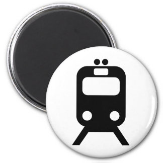 Trains lover products! 6 cm round magnet