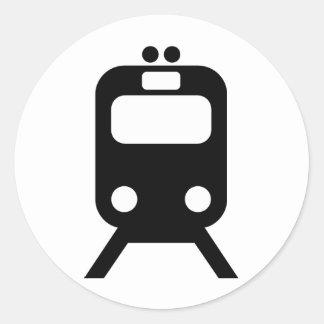Trains lover products! round sticker