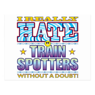 Trainspotters Hate Face Postcard