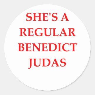 traitor classic round sticker