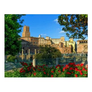Trajan's forum, Traiani, Roma, Italy Postcard