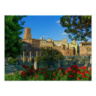 Trajan's forum, Traiani, Roma, Italy Poster