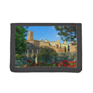 Trajan's forum, Traiani, Roma, Italy Trifold Wallets