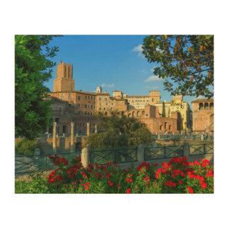 Trajan's forum, Traiani, Roma, Italy Wood Wall Art