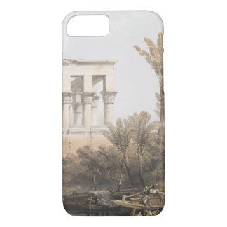 Trajan's Kiosk, hypaethral Temple at Philae Egypt iPhone 8/7 Case