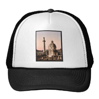 Trajan's Pillar, Rome, Italy classic Photochrom Mesh Hats