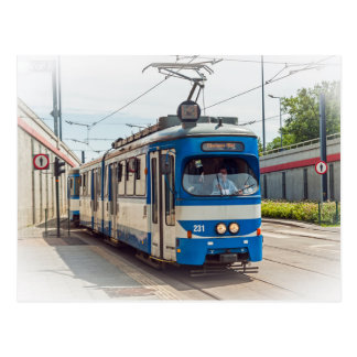 Tram in Krakow, Poland Postcard