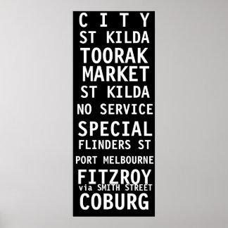 TRAM SCROLL MELBOURNE VINTAGE POSTERS