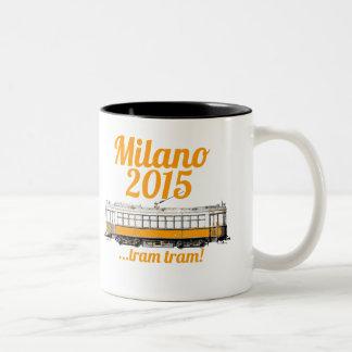 tram tram milano 2015 Two-Tone mug