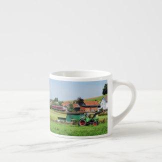 Tramcar in death living espresso cup