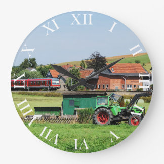 Tramcar in death living large clock