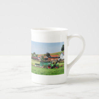 Tramcar in death living tea cup