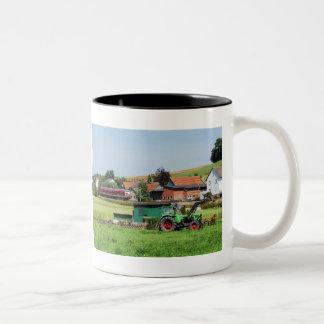 Tramcar in death living Two-Tone coffee mug