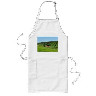 Tramcar with meadow field long apron