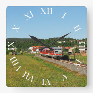 Tramcar with Muenchhausen Square Wall Clock