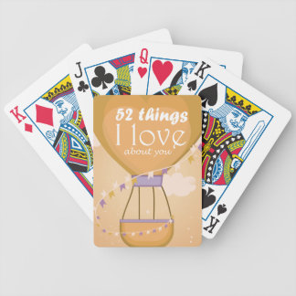 Tramp love letter playing cards