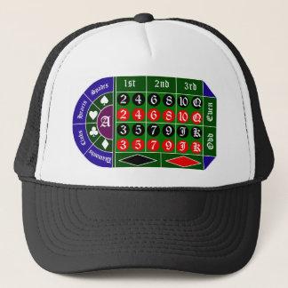 Tramp roulette trucker hat