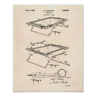 Trampoline 1958 Patent Art Old Peper Poster