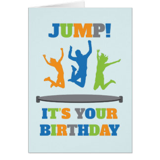 Trampoline Birthday Party Card