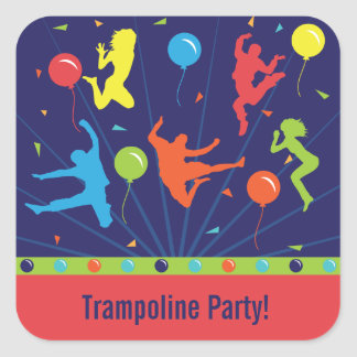 Trampoline Birthday Party Stickers Boys & Girls