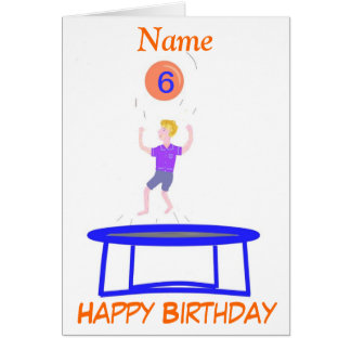 Trampoline Card for boy, add name age.