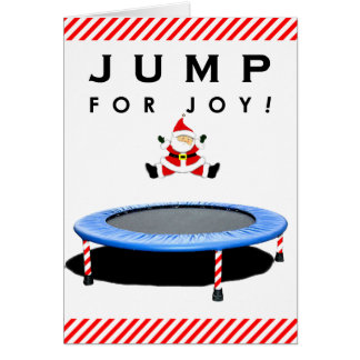 Trampoline Christmas Card