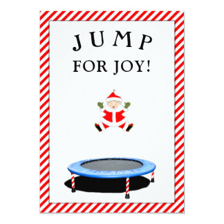 trampoline Christmas cards