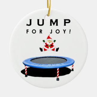 Trampoline Christmas Collectible Ceramic Ornament