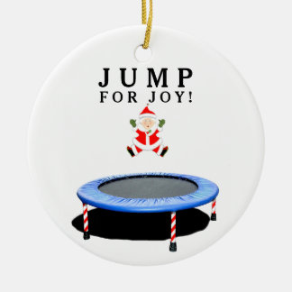 Trampoline Christmas Collectible Ceramic Ornament