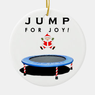 trampoline Christmas gift Round Ceramic Decoration