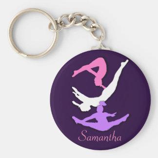 Trampoline gymnast personalised keychain
