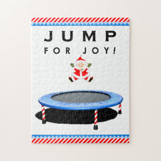 trampoline holiday gift jigsaw puzzle