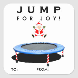 Trampoline Holidays Square Sticker
