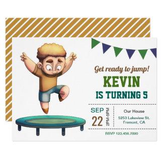 Trampoline Jumping Boy Birthday Party Invitation